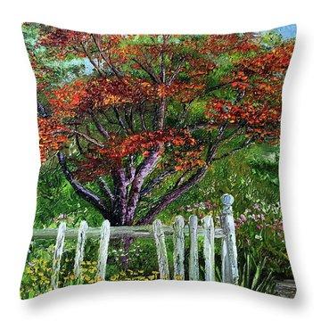 St. Michael's Tree Throw Pillow