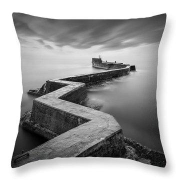 St Monans Breakwater Throw Pillow