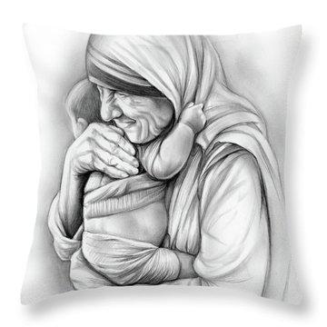 St Mother Teresa Throw Pillow