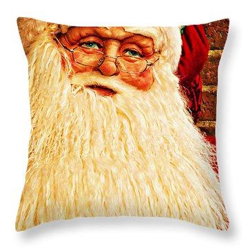 St. Nicholas Melting Canvas Photoart Throw Pillow