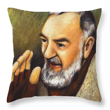 St. Padre Pio Of Pietrelcina - Jlpio Throw Pillow