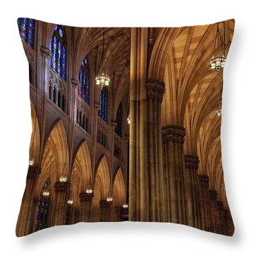 Throw Pillow featuring the photograph St. Patrick's Arches by Jessica Jenney