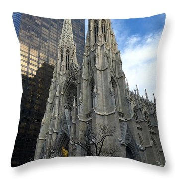 St. Patricks Cathedral Throw Pillow