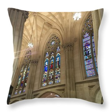 St. Patricks Cathedral Interior Throw Pillow