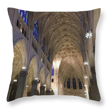 St. Patricks Cathedral Main Interior Throw Pillow
