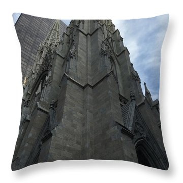St. Patricks Cathedral Perspective Throw Pillow