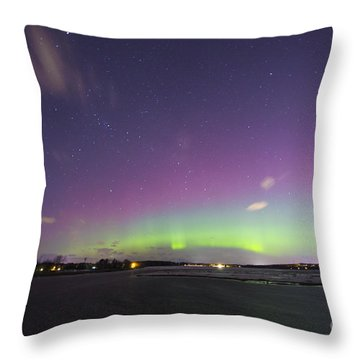 St. Patrick's Day Aurora 2015 Throw Pillow