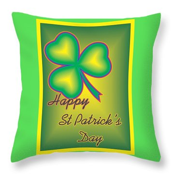 St. Patrick's Day Throw Pillow by Sherril Porter