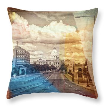 Throw Pillow featuring the photograph St. Paul Capital Building by Susan Stone