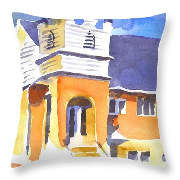 St. Paul Lutheran 3 Impressions Throw Pillow by Kip DeVore