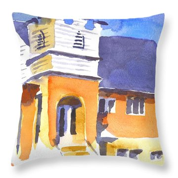 St Paul Lutheran 3 Throw Pillow by Kip DeVore