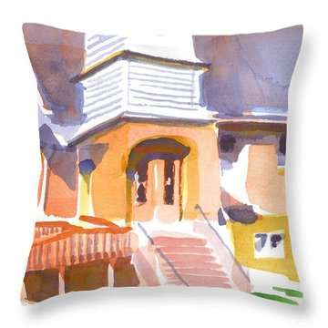 St. Paul Lutheran Ironton Missouri Throw Pillow by Kip DeVore