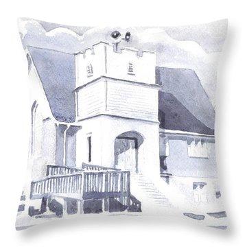 St. Paul Lutheran Church 2 Throw Pillow by Kip DeVore