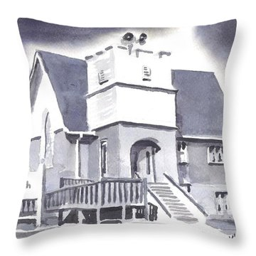 St Paul Lutheran With Ink Throw Pillow by Kip DeVore