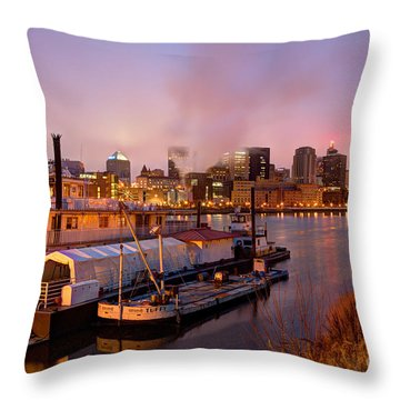 St Paul Minnesota Its A River Town Throw Pillow