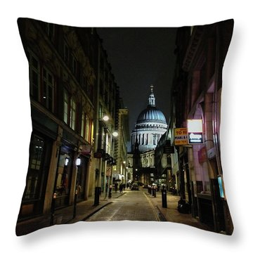 St. Pauls By Night Throw Pillow