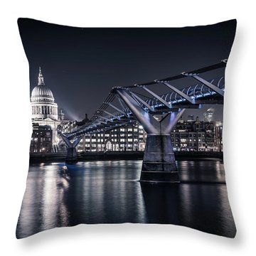 Throw Pillow featuring the photograph St Pauls Cathedral by James Billings