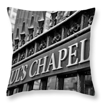 St. Paul's Chapel Throw Pillow by Kate Purdy