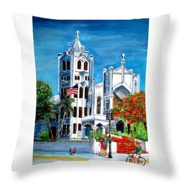 St. Paul's Church  Throw Pillow