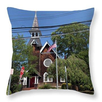 St Pauls Episcopal Church Patchogue Throw Pillow