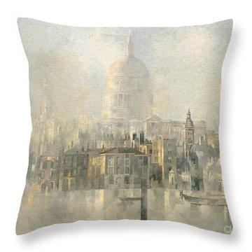 St Paul's Throw Pillow by Peter Miller