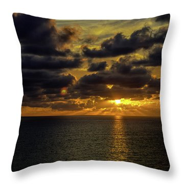 St. Pete Sunset Throw Pillow