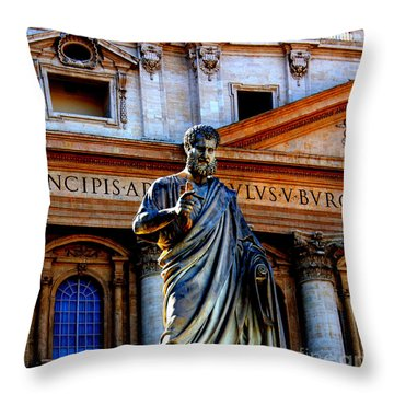 St Peter At The Vatican Throw Pillow