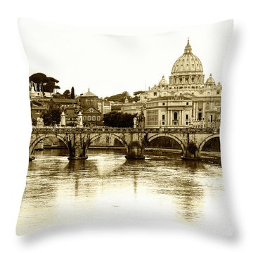 Throw Pillow featuring the photograph St. Peters Basilica by Mircea Costina Photography