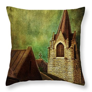 St Peter's By Night Throw Pillow