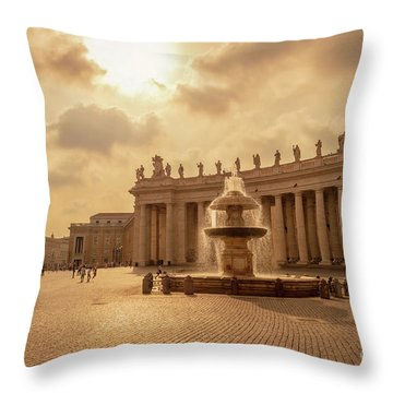 St Peter's Square In Vatican City Throw Pillow