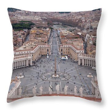 St. Peter's Square Throw Pillow by Sergey Simanovsky