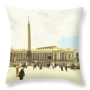 St. Peter's Square The Vatican Throw Pillow