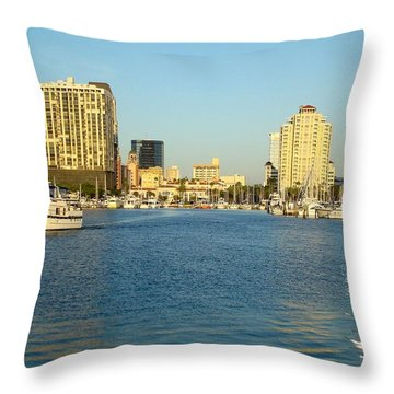 St Petersburg Florida Throw Pillow