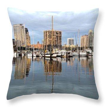 St Petersburg Marina Throw Pillow