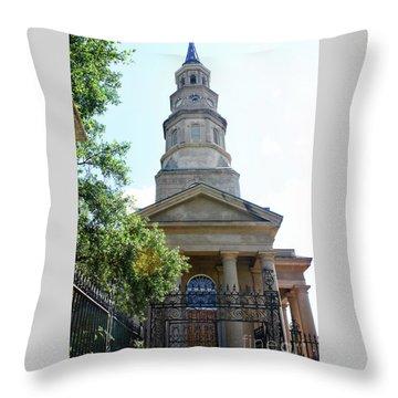 St. Phillips Episcopal Church, Charleston, South Carolina Throw Pillow