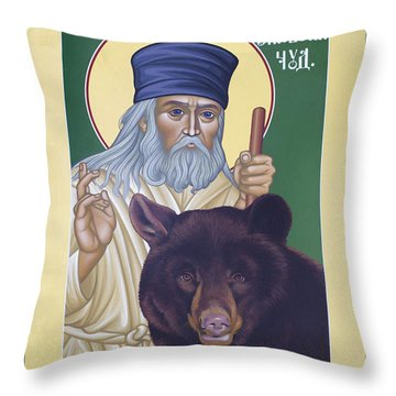 St. Seraphim Of Sarov - Rlses Throw Pillow