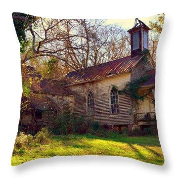 St Simon Church Peak Sc Throw Pillow