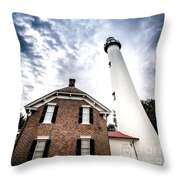 St Simons Lighthouse Throw Pillow