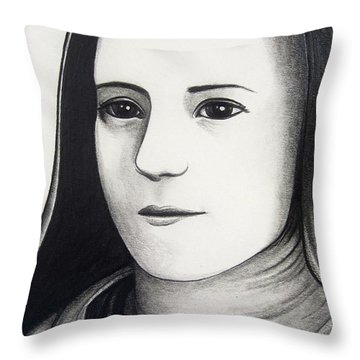 St. Therese Of Lisieux Throw Pillow