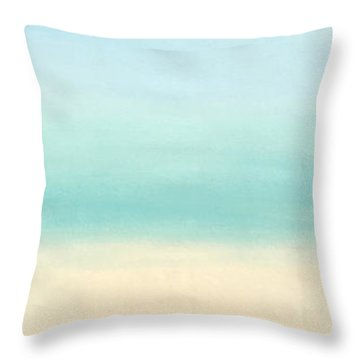 St Thomas #1 Seascape Landscape Original Fine Art Acrylic On Canvas Throw Pillow