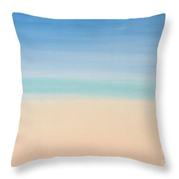 St Thomas #2 Seascape Landscape Original Fine Art Acrylic On Canvas Throw Pillow