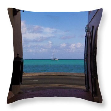 St. Thomas Alley 1 Throw Pillow by Tim Mulina