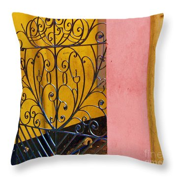 St. Thomas Gate Throw Pillow by Debbi Granruth