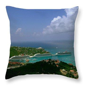 St. Thomas  Harbor Throw Pillow