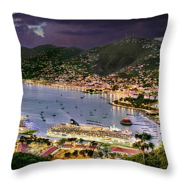 St Thomas Nights Throw Pillow