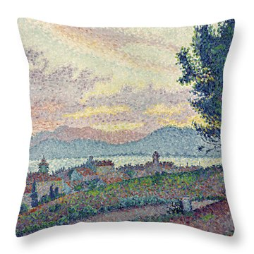 St Tropez Pinewood Throw Pillow by Paul Signac