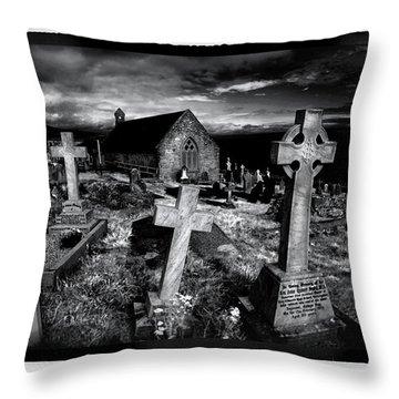 St Tudno's Church Throw Pillow by Mal Bray