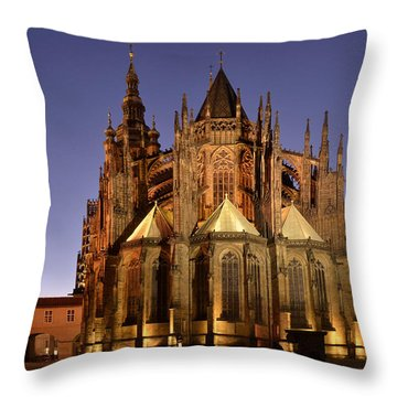 St Vitus Cathedral Prague Throw Pillow by Marek Stepan