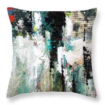 Throw Pillow featuring the painting I Fooled Around And Fell In Love by Frances Marino