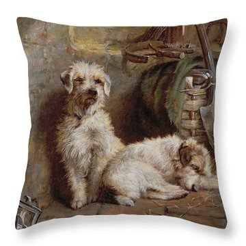 Stablemates Throw Pillow by John Fitz Marshall